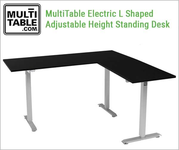 Standing Desk L Shaped Electric Office Desk Multitable