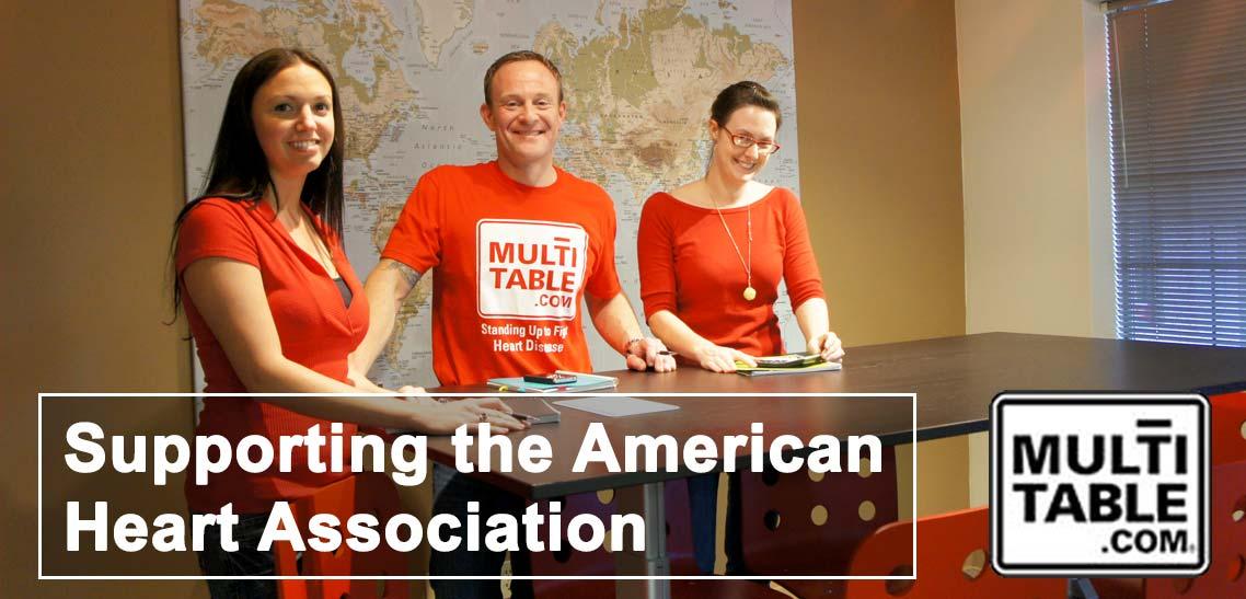 MultiTable Supports The American Heart Association MultiTable Standing Adjustable Desks