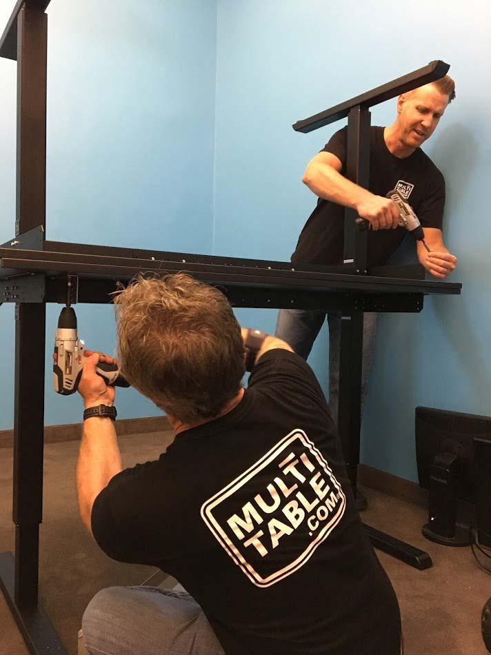 Height Adjustable Standing Desk Office Installation Services MultiTable