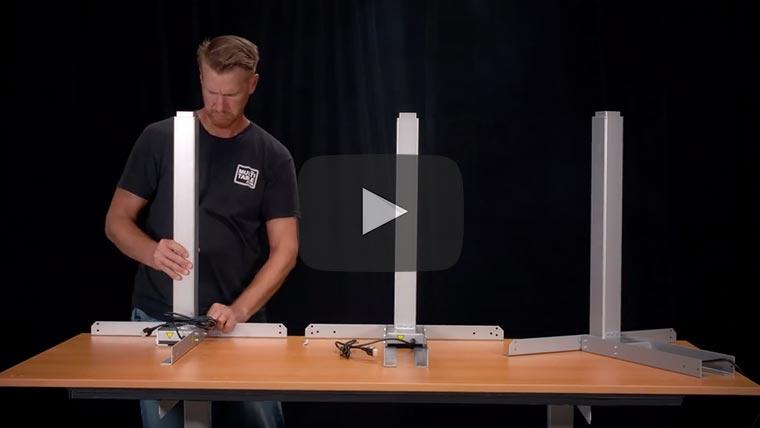 Best L Shaped Corner Electric Standing Desk Assembly Video MultiTable