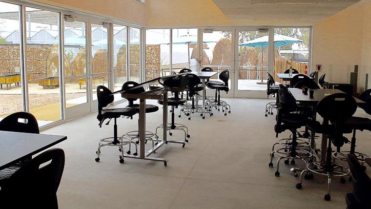 MultiTable Customizes Standing Tables For New Desert Botanical Garden Learning Center