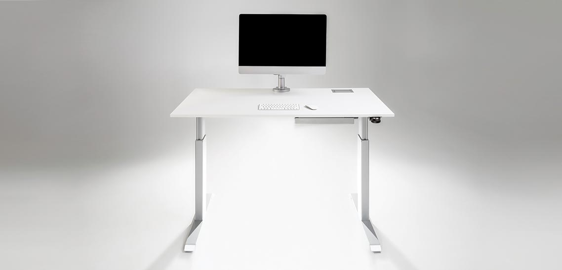 FlexTable Manual Hand Crank Or Electric Motorized Push Button Height Adjustable Standing Desk MultiTable