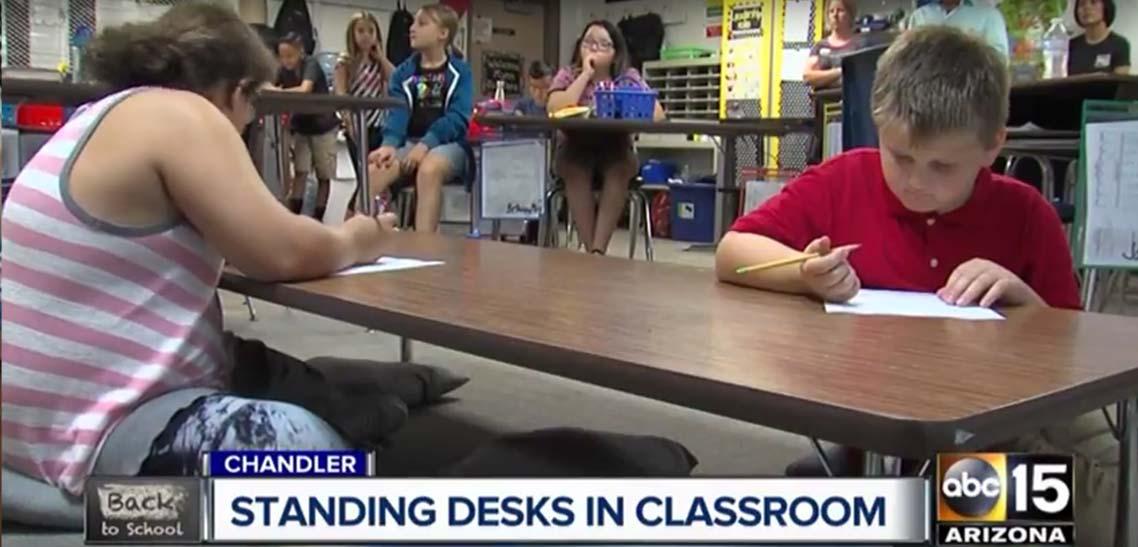 MultiTable Standing Desks Help Students In Schools