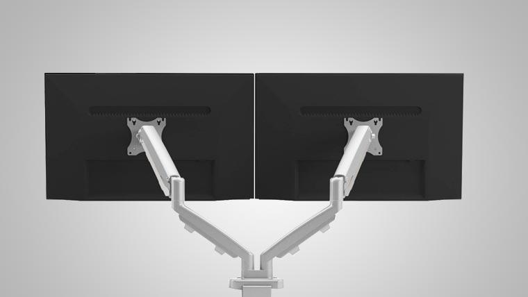 Ergo Dual Monitor Arm MultiTable Specs 2