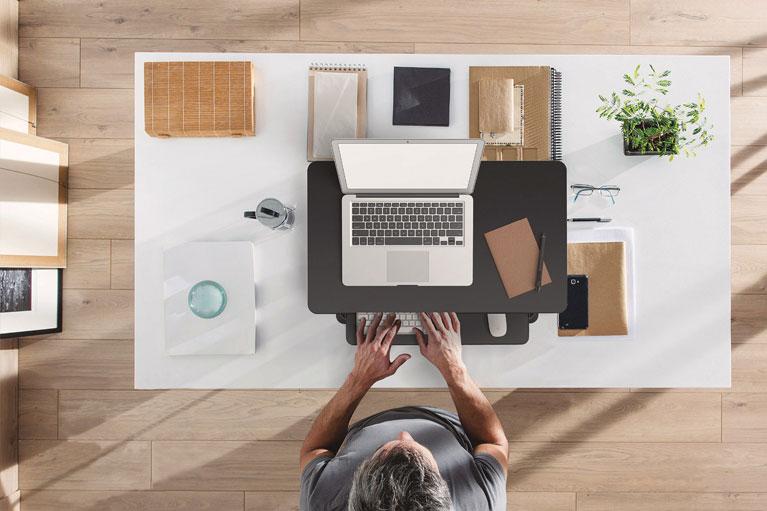 Desktop Riser Sit To Stand Workstation Desk Height Adjustable Standing Desk Sm MultiTable Phoenix