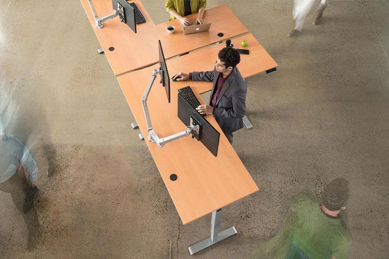 MultiTable L Shaped Corner Desk Height Adjustable Standing Desk Sm MultiTable Phoenix