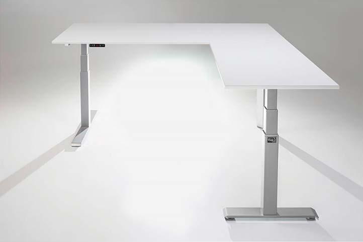 3 Leg Corner L Shaped Adjustable Height Standing Desk