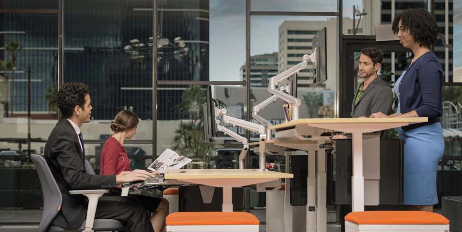 Adjustable Height Standing Desk MultiTable Mod E Pro